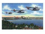 Jacksonville  Florida - US Navy Bombers over St John's River