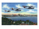 Jacksonville  Florida - US Navy Bombers over St John's River