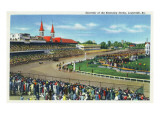 Louisville  Kentucky - Souvenir of the Kentucky Derby; Race Scene
