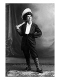Cowgirl Portrait - Woman Holding Rifle