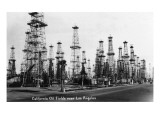 California - View of Oil Fields near Los Angeles