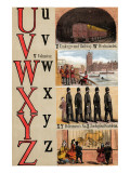 U  V  W  X  Y  Z Illustrated Letters