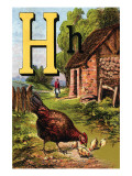 H For the Hen  of Her Chicks So Fond