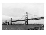 San Francisco  California - Panoramic View of Bay Bridge