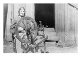 Mountain Women at a Spinning Wheel