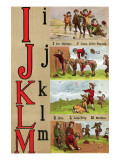 I  J   K  L  M Illustrated Letters