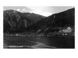 Juneau  Alaska - Panoramic View of Town from Water