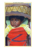 Apache Indian Baby in Papoose