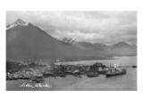 Sitka  Alaska - Aerial Panoramic View of Town