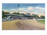 Saratoga Springs  New York - Night Trotting Track View