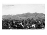 Bozeman  Montana - Panoramic View of Town