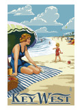 Key West  Florida - Beach Scene