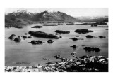 Sitka  Alaska - Aerial View of Town  Isles of Enchantment