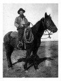 South Dakota - A Dakota Cowboy on Horseback