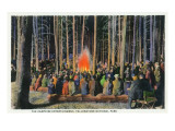 Yellowstone Nat'l Park  Wyoming - Campfire Entertainment Scene