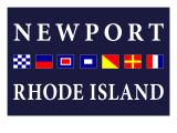 Newport  Rhode Island - Nautical Flags