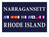 Narragansett  Rhode Island - Nautical Flags