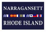 Narragansett  Rhode Island - Nautical Flags