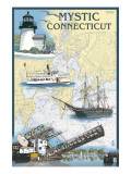 Mystic  Connecticut - Nautical Chart