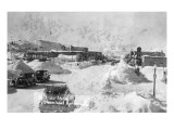 Steamboat Springs  Colorado - Snowy Street Scene