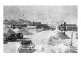 Steamboat Springs  Colorado - Snowy Street Scene