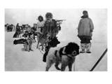 Alaska - Dog Sled Team and Men in Parkas