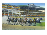 Oceanport  New Jersey - Monmouth Park Race Track Scene