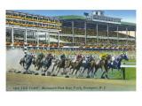 Oceanport  New Jersey - Monmouth Park Race Track Scene