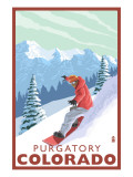 Purgatory  Colorado - Snowboarder