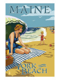 York Beach  Maine - Beach Scene