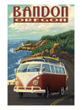 Bandon  Oregon - VW Van Coast Scene