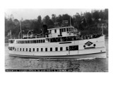 Seattle  WA - SS Sightseer Ship Entering Puget Sound from Ballard Locks