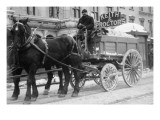 Carting Snow From New York Streets By Horse & Wagon