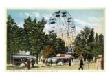 Chautauqua Lake  New York - Celoron Park; Ferris Wheel View