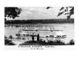 Streckfus Steamer Admiral on the Mississippi