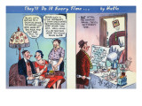 Comic Cartoon - Woman Before Marriage Stays At Home  Once Married Goes Out