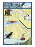 Juneau  Alaska - Nautical Chart