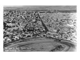 San Francisco  California - City Aerial from Twin Peaks Road Loop