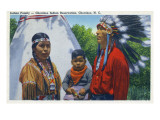 North Carolina - A Typical Indian Family on Qualla Reservation