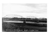 Sidney  Montana - Yellowstone River Bridge Panoramic