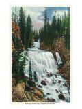 Yellowstone Nat'l Park  Wyoming - Firehole River; Kepler Cascade Scene