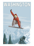 Snowboarder Jumping - Washington