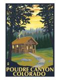 Poudre Canyon  Colorado - Cabin Scene