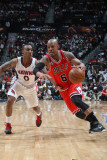 Chicago Bulls v Atlanta Hawks - Game Three  Atlanta  GA - MAY 6: Keith Bogans and Jeff Teague