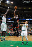 Miami Heat v Boston Celtics - Game Four  Boston  MA - MAY 9: Dwyane Wade and Kevin Garnett