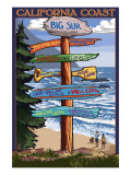 Big Sur  California - Destination Sign