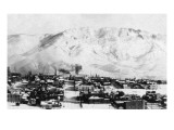 Butte  Montana - Panoramic View of Town