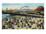 Ocean Park  California - View of Lick's Dome Pier