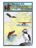Kodiak Island  Alaska - Nautical Chart