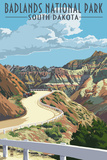 Badlands National Park  South Dakota - Road Scene